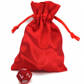 Red Small Satin Dice Bag